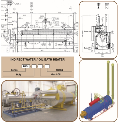 Indirect Water Bath Heater